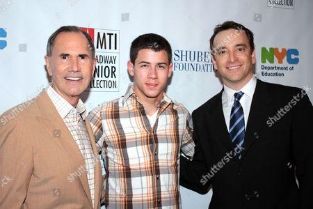 Freddie Gershon, Nick Jonas, Drew Cohen