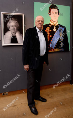 Sir Tim Rice which a hologram of Queen Elizabeth II by Chris Levine and Prince Charles by Andy Warhol.