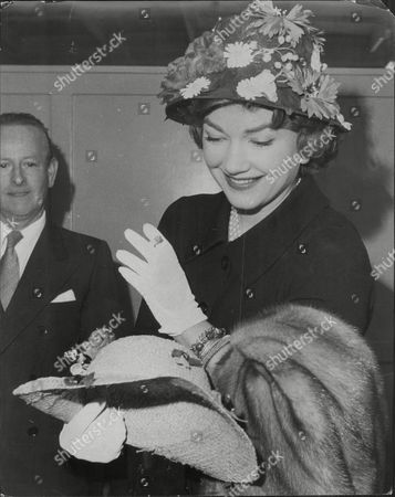American Actress Anne Baxter (died 12/85) Arriving In London In 1958.