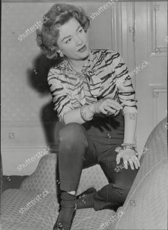 American Actress Anne Baxter (died 12/85).