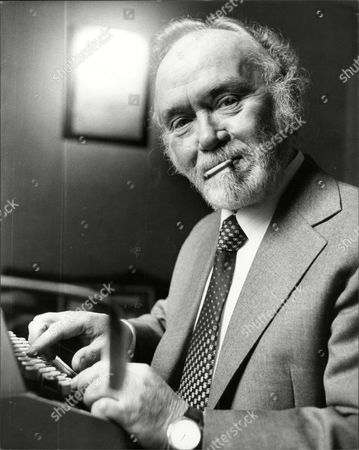 Actor And Comedian Charlie Drake At Work On His Typewriter - (died 12/06).