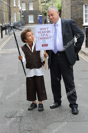 10-year-old Jude Chinchen with TUC General Secretary Brendan Barber
