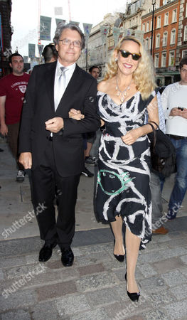 Stock Picture of Warwick Hemsley and Jerry Hall