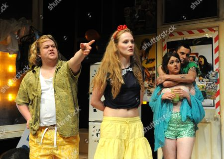 Stock Image of Danny Kirrane as Benny, Eve Ponsonby as Sophie, Alison O'Donnell as Laura and Tom Mothersdale as Timp