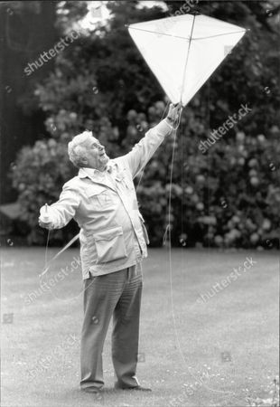 Actor And Comedian Michael Bentine (died 11/96) Flying A Kite.