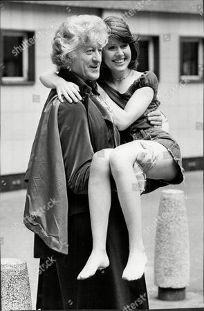 Actor Jon Pertwee (died 5/96) With Elizabeth Sladen His New Partner In Tv Series 'dr Who'.