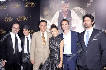 Dean Wright, Mauricio Kuri, Andy Garcia, Eva Longoria, Nestor, Eduardo Verastegui