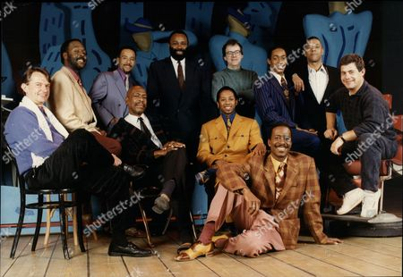 The Cast And Crew Of 'five Guys Named Mo'. Philip Hedley Theatre Director Charles Augins Director Cameron Mackintosh Producer Neil Mcarthur Musical Director Chapman Roberts Vocal Arranger Kenny Andrews (kenny Adams) Peter Alex Newton Paul J Medford Omar Okat Dig Wayne And Clarke Peters.