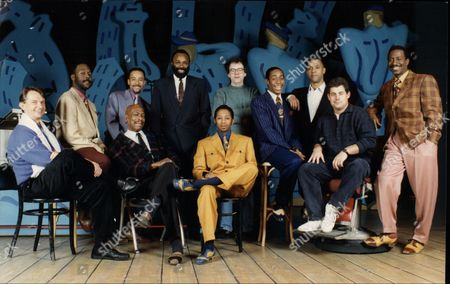 The Cast And Crew Of 'five Guys Named Mo'. Philip Hedley Theatre Director Charles Augins Director Cameron Mackintosh Producer Neil Mcarthur Musical Director Chapman Roberts Vocal Arranger Kenny Andrews Peter Alex Newton Paul J Medford Omar Okat Dig Wayne And Clarke Peters.