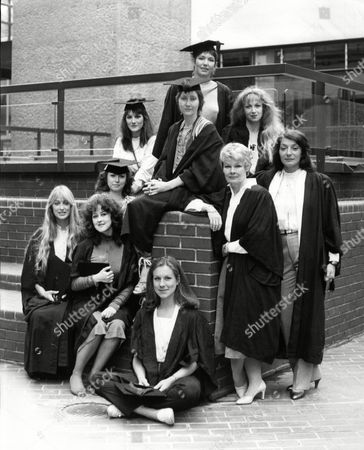 Stock Photo of Carol Royle Jane Carr Cherie Lunghi Harriet Walter Gemma Jones Susan Fleetwood Judi Dench Cheryl Campbell Jane Lapotaire And Juliet Stevenson Royal Shakespeare Company Girls 1982.