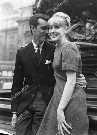 Ann Chivers Actress With Her Fiancae Alan Poston Drummer For Singer Pj Proby (not Shown) 1965.