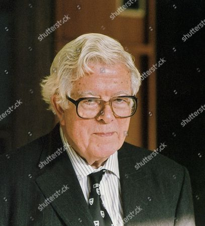 Lord Geoffrey Howe at a conference in Churchill College, Cambridge.