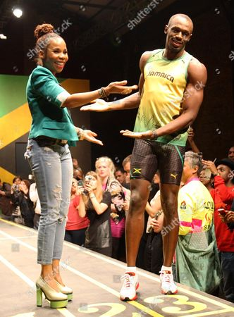 Cedella Marley and Usain Bolt