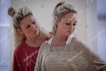 Pippa Fulton, (left) with Jessica Lawlor takes part in a rehearsal