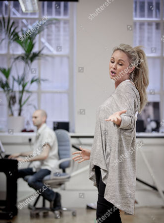 Jessica Lawlor takes part in a rehearsal
