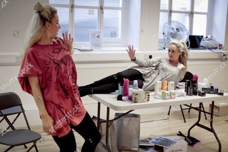 Pippa Fulton and Jessica Lawlor takes part in a rehearsal
