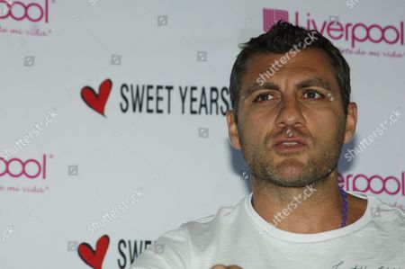 Christian Vieri, in Mexico City promoting his clothing collection, Sweet Years