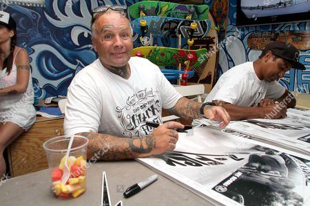 Editorial photo of Jay Adams Z-Flex signing at Venice Originals Skateboard Shop, Los Angeles, America - 03 Jun 2012