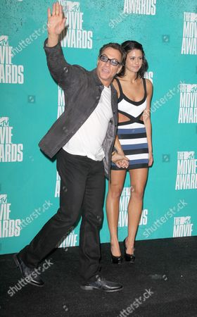 Stock Photo of Jean-Claude Van Damme and daughter Bianca Bree