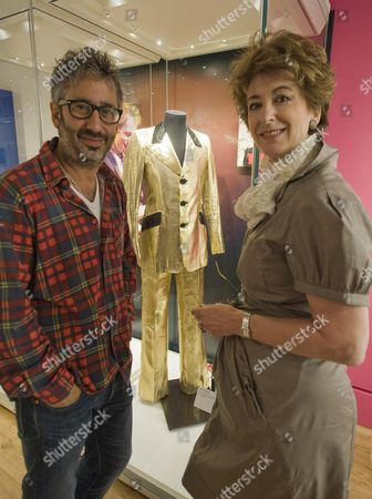 Jewish Entertainers Maureen Lipman And David Baddiel Launch Entertaining The Nation Stars Of Music Stage & Screen At The Jewish Museum Marc Bolan Gold Lame Suit Picture By Glenn Copus