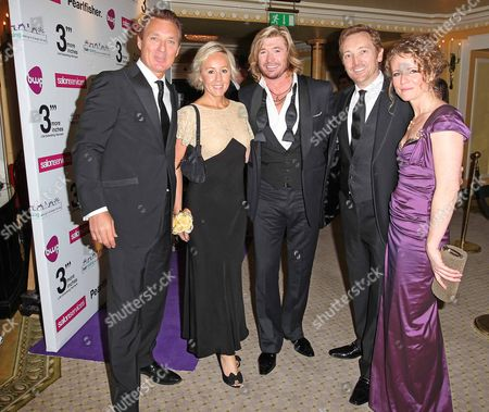 Hair Styling Charity Ball at The Dorchester Hotel. Martin Kemp, Shirlie Holliman, Nicky Clarke, Michael Van Clarke and Caroline Kremer