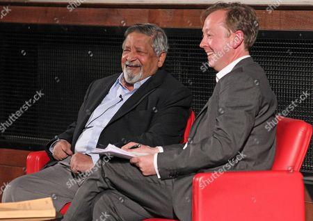 Nobel Prize For Literature Winner Vs Naipaul In Conversation With London Evening Standard Newspaper Editor Geordie Greig. Picture By: Nigel Howard Email: Nigelhowardmediaatgmail.com