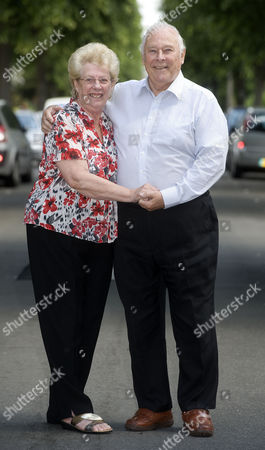 Editorial photo of Denis Oliver 78 Who Worked For The Government Car Service. He Drove Margaret Thatcher Enoch Powell As Well As Many Others. Denis With His Wife Anita 74.