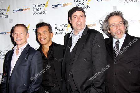 Jack Noseworthy, Sergio Trujillo, Christopher Ashley and Warren Leight