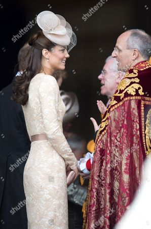 Catherine Duchess of Cambridge with The Very Reverend David Ison