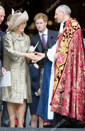 Camilla Duchess of Cornwall, Prince Harry and The Very Reverend David Ison