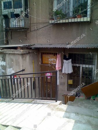The alleged home of victim Jun Lin in Wuchang, Wuhan, Hubei province, China