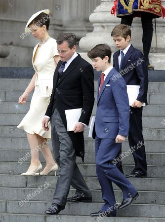 Lady Sarah Chatto and Daniel Chatto with Arthur Chatto and Samuel Chatto