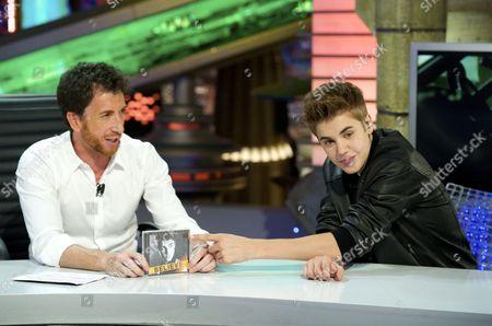 Pablo Motos and Justin Bieber