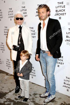 Karl Lagerfeld, Hudson Kroenig and Brad Kroenig