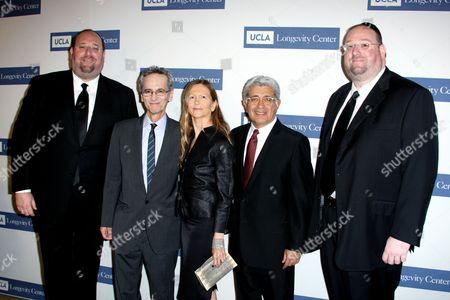 Steve Rechnitz, Gary Smal MD, Jane Semel and Terry Semel and Shlomo Rechnitz