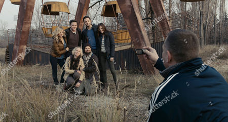 Stock Picture of Chernobyl Diaries - Olivia Taylor Dudley, Jesse McCartney, Jonathan Sadowski, Devin Kelley, Ingrid Bolso Berdal, Nathan Phillips and Dimitri Diatchenko