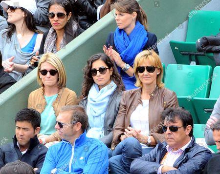 Maria Francisca Perello, Spain's Rafael Nadal's girlfriend (center) Rafael Nadal's mother Ana Maria Parera (right)