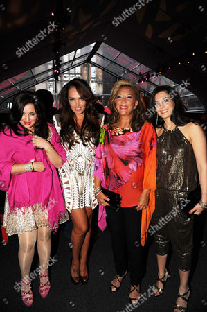 Tamara Ecclestone, Denise Rich with daughters Ilona Rich Schachter and Daniella Rich Kilstock