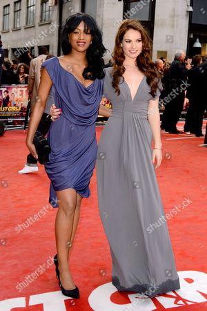 Tiana Benjamin and Lily James