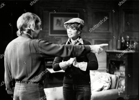 Stock Picture of Actress Stacy Dorning Being Directed By Her Father Robert Gillespie.