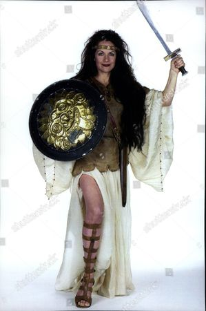 Actress Mary Tamm Dressed As Queen Boadicea.