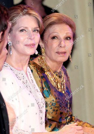 Queen Noor of Jordan and Farah Diba Pahlavi