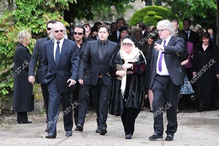 Barry Gibb, Robin-John Gibb and Dwina Gibb