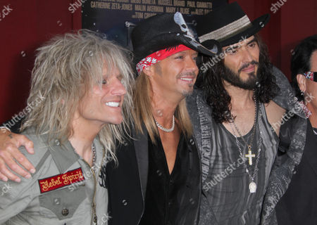 C C DeVille, Bret Michaels and Russell Brand