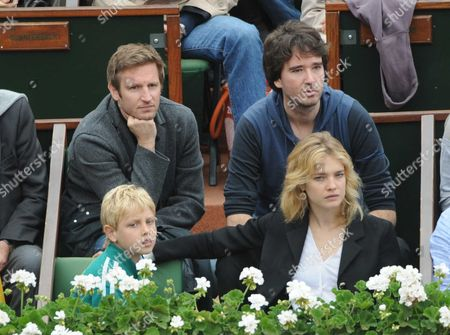 Stock Picture of Natalia Vodianova with her son Lucas Alexander Portman and Antoine Arnault