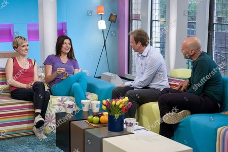 Holly Walsh and Sharon Horgan with Tim Lovejoy and Simon Rimmer.