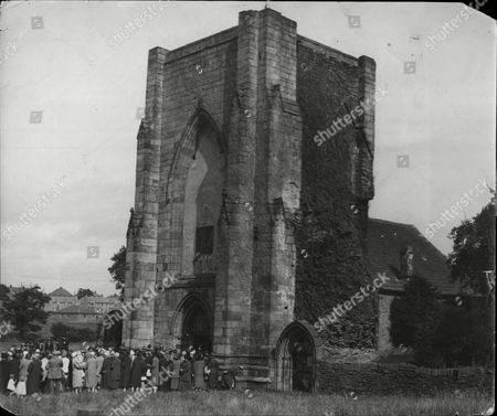 Editorial image of Beauchief Abbey Near Sheffield During Marriage Between The Abbey's Owner Frank Mackenzie Crawshaw And Isabel Burnett 1926.