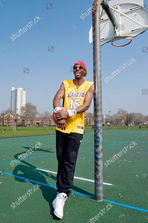 Phillips Idowu at Hackney Downs Basketball Court