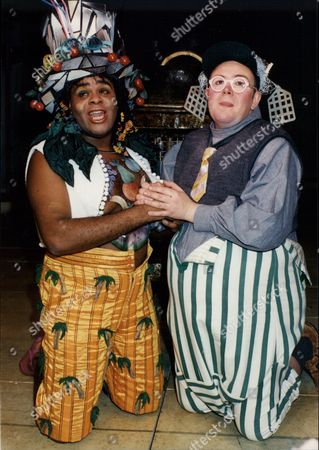 'just So' Musical. Clive Rowe Left The Parsee Man And Martyn Ellis The Rhino