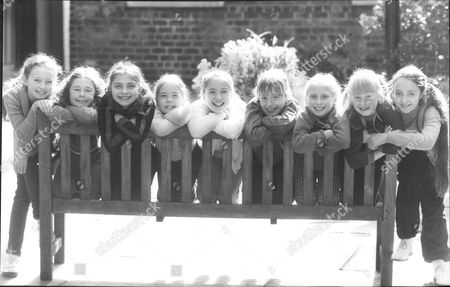 'little Orphan Annie' Child Actresses Appearing As 'orphans' In The Musical Which Has Its Northern Premiere At Liverpool's Empire Theatre. Left To Right; Tara Moran Lisa Worsnop Julie Neary Georgette Nash Rachel Robinson Katie Blessed Nicola Moodie Charlotte Robinson Louisa Morris